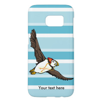 Funny Puffin With A Stripy Winter Hat On Samsung Galaxy S7 Case