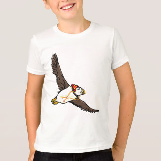Funny Puffin With A Winter Hat On T-Shirt