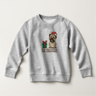 Funny Pug and Kisses Christmas | Sweatshirt