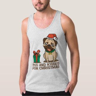 Funny Pug and Kisses Christmas | Tank Top