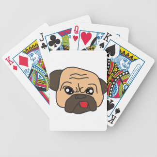 Funny Pug Bicycle Playing Cards