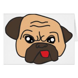 Funny Pug Card