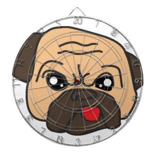 Funny Pug Dartboard