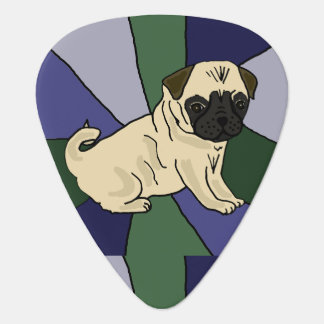 Funny Pug Dog Art Guitar Pick