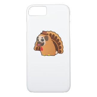 Funny Pug Turkey Funny Thanksgiving Dog iPhone 8/7 Case