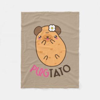 Funny Pugtato Fleece Blanket