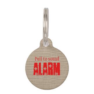 Funny Pull to Sound Alarm Cross Shotgun Pet Tag