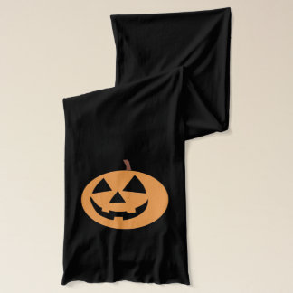 Funny Pumpkin Halloween Holiday Scarf