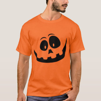 Funny Pumpkin Jack-O-Lanter Face Halloween TShirt