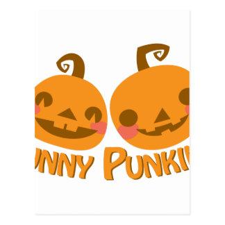 Funny Pumpkins Postcard