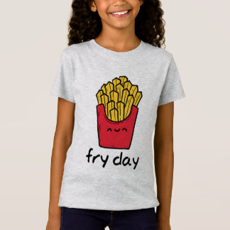 Funny pun Friday happy french fries cartoon T-Shirt