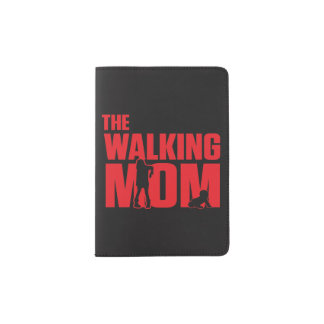 Funny pun the walking mom jokes for halloween passport holder