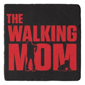 Funny pun the walking mom jokes for halloween trivet