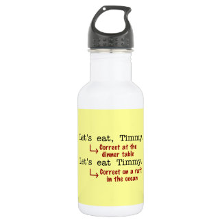 Funny Punctuation Grammar 532 Ml Water Bottle