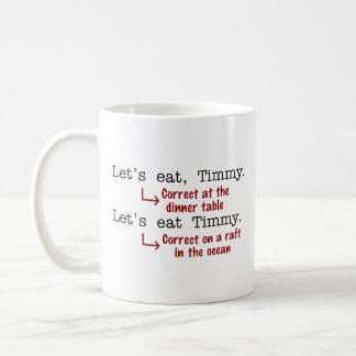 Funny Punctuation Grammar Coffee Mug