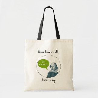 Funny Punny Motivational William Shakespeare Bag
