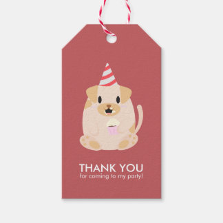 Funny Puppy Dog Kids Birthday Party Pack Of Gift Tags