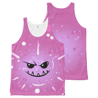 Funny Purple Face with Sneaky Smile All-Over-Print Tank Top