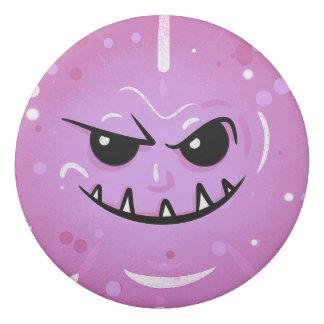 Funny Purple Face with Sneaky Smile Eraser