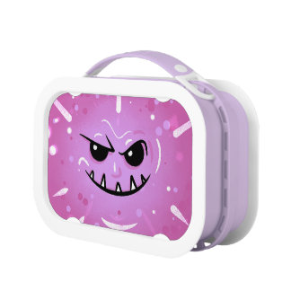 Funny Purple Face with Sneaky Smile Lunch Box