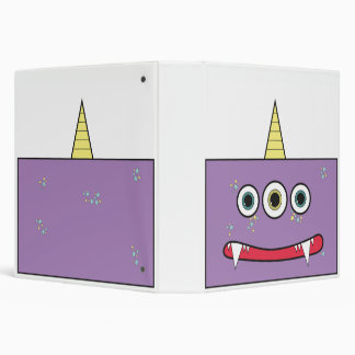 Funny Purple Monster 3 Ring Binder