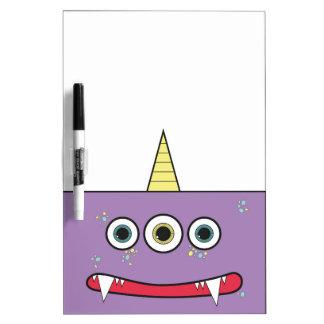 Funny Purple Monster Erase Board