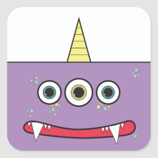 Funny Purple Monster stickers