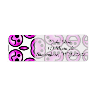 Funny Purple Pain Emoticons Return Address Label