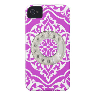Funny purple pattern dial iPhone 4 cover