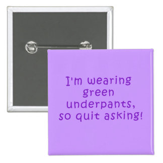 Funny Purple St. Patrick's Day t shirt 2 Inch Square Button