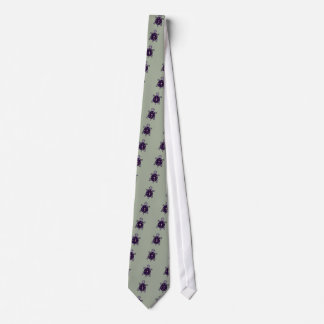Funny Purple Turtle with Moon and Stars on Shell Tie
