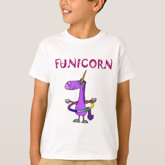 Funny Purple Unicorn with Hula Hoop T-Shirt