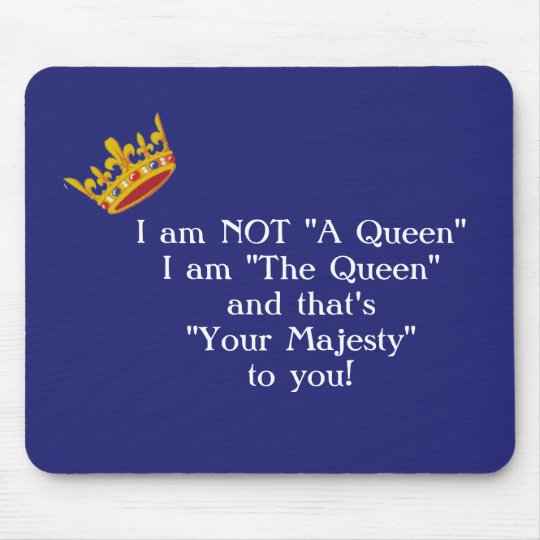 Funny Queen Mouse Pad - Navy