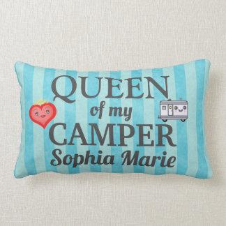 Funny Queen of my Camper Lumbar Pillow