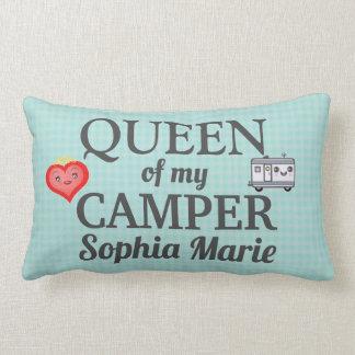 Funny Queen of my Camper Lumbar Pillow 2