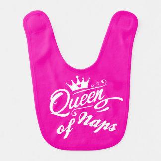 Funny: Queen of naps. Baby girl bib