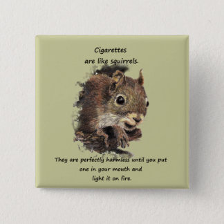 Funny Quit Smoking Motivational Quote 2 Inch Square Button