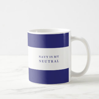 Funny Quote Chic Feminine Navy Coffee or Tea Mug