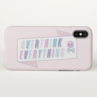 Funny Quote Illustration Overthink Case