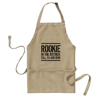 Funny Quote Rookie in the Kitchen Standard Apron