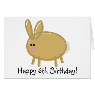 Funny Rabbit on White Greeting Card