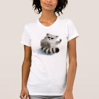 Funny raccoon says hello! T-Shirt
