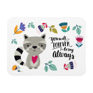 Funny Raccoon Valentine's Day Gift Magnet