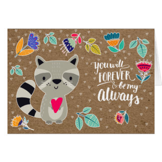 Funny Raccoon Valentine's Day Greeting Cards