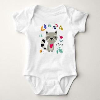Funny Raccoon with Heart  Custom Baby Bodysuits