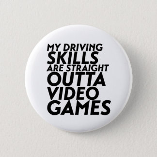 Funny Racing Car Video Games for Nerd Geek Gamer 2 Inch Round Button