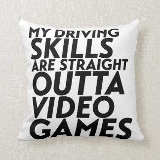 Funny Racing Car Video Games for Nerd Geek Gamer Throw Pillow