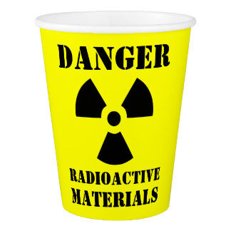 Funny Radioactive Materials Halloween Paper Cup