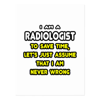 Funny Radiologist T-Shirts and Gifts Postcard