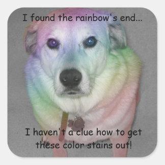 Funny Rainbow Pooch Sticker